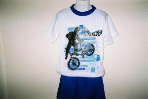 Boys Biker 2pc Short Set Size 6