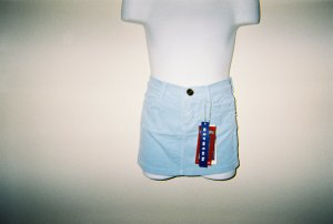 Girls Baby Blue Corduroy Skirts Size 4