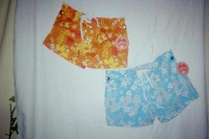 Girls Blue Silver BoardShorts Size 5