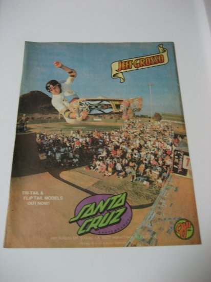 Original Santa Cruz SkateBoard Advertisement Rare Vintage Jeff Grosso