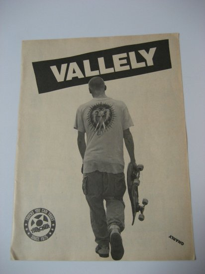 Original Mike Valley SkateBoard Advertisement Rare Vintage