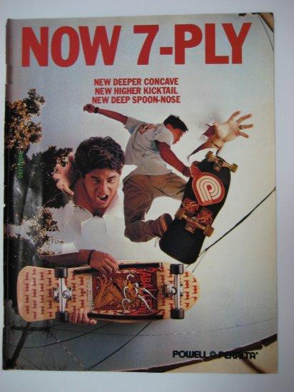Original Powell Peralta SkateBoard Advertisement Rare Vintage Caballero