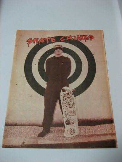 Original Santa Cruz SkateBoard Advertisement Rare Vintage Rob Roskopp