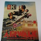 Original Airwalk SkateBoard Advertisement Rare Vintage Lester Kasai