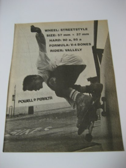 Original Powell Peralta SkateBoard Advertisement Rare Vintage Mike Valley
