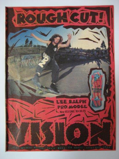 Original Vision SkateBoard Advertisement Rare Vintage Lee Ralph