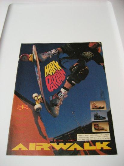 Original Airwalk SkateBoard Advertisement Rare Vintage Mark Partain