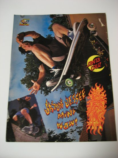 Original Santa Cruz SkateBoard Advertisement Rare Vintage Jason Jesse
