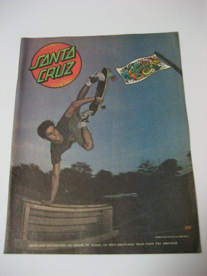 Original Santa Cruz SkateBoard Advertisement Rare Vintage Jeff Kendall