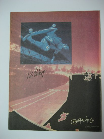 Original Gottcha SkateBoard Advertisement Rare Vintage Rob Roskopp