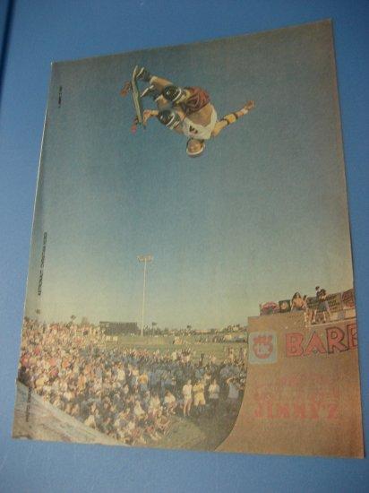 Original Christian Hosoi SkateBoard Advertisement Rare Vintage Jimmy Z