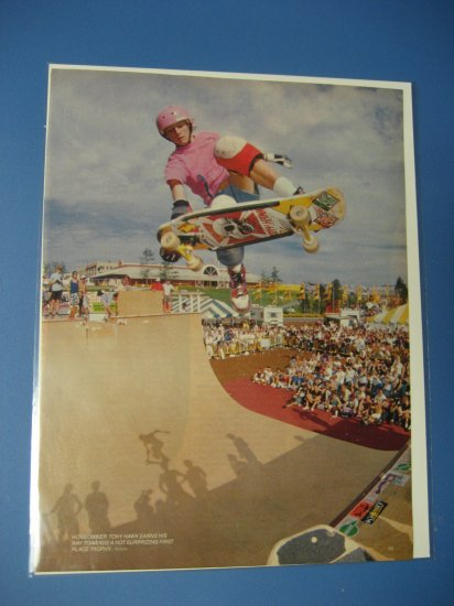 Original Tony Hawk SkateBoard Advertisement Rare Vintage Powell Peralta