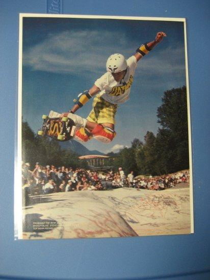 Original Steve Caballero SkateBoard Advertisement Rare Vintage Powell Peralta