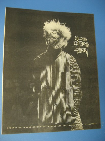 Original STUSSY CLOTHING SkateBoard Advertisement Rare Vintage