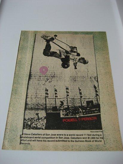 Original Powell Peralta Advertisement Rare Vintage Steve Caballero