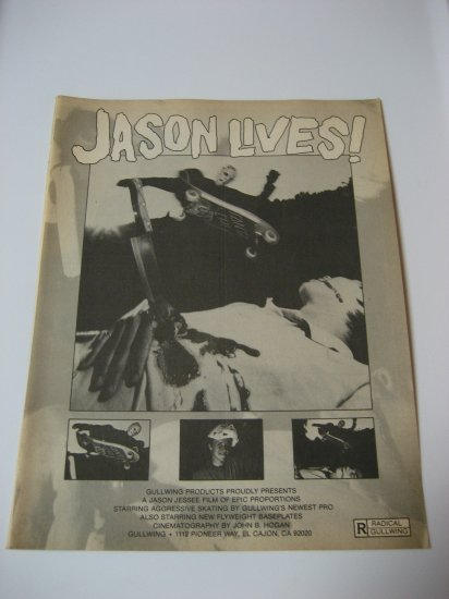 Original Gullwing SkateBoard Advertisement Rare Vintage Jason Jessee