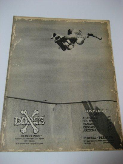 Original Powell Peralta SkateBoard Advertisement Rare Vintage Tony Hawk