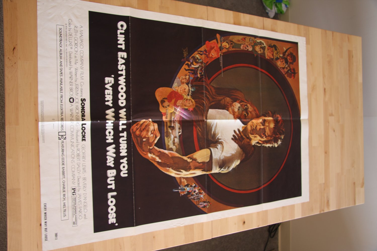 Original Every Which Way But Loose Movie Poster