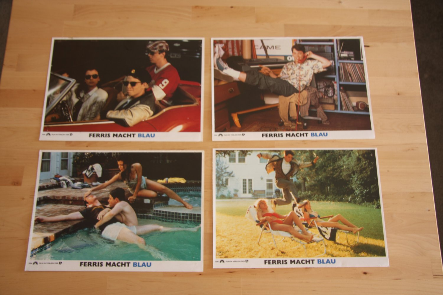 Lot of German Ferris Bueller's Day Off Lobby Cards
