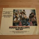 Original Ferris Bueller's Day Off Lobby Card