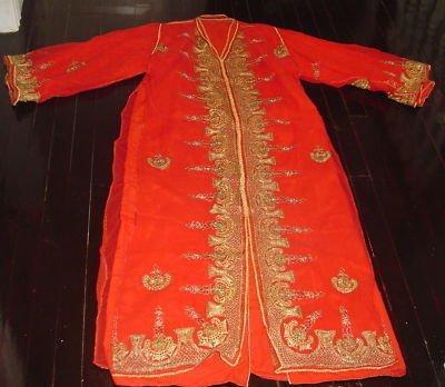 Red Embroidered Beaded Wedding Moroccan Kaftan Dress