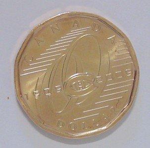 CANADA Canadian Montreal HOCKEY HNL $1 ONE DOLLAR COIN