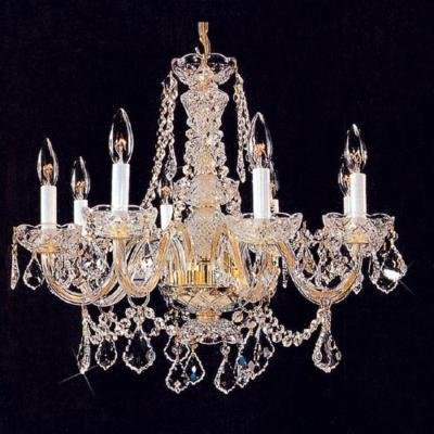 "AUSTRIAN Swarovski CRYSTAL CHANDELIER Glass 26"" x 20"""