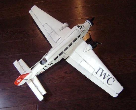 "17"" White Metal AIRCRAFT Plane Decorative Figurine"