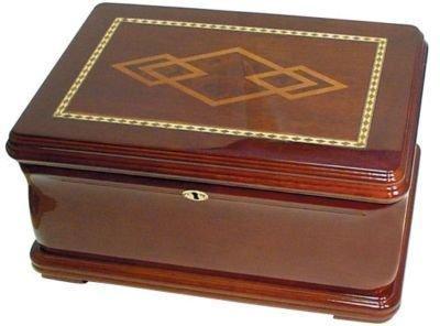 "120 Cigars Mahogany Wood HUMIDOR 14.5 x 10.5 x 7.25"""