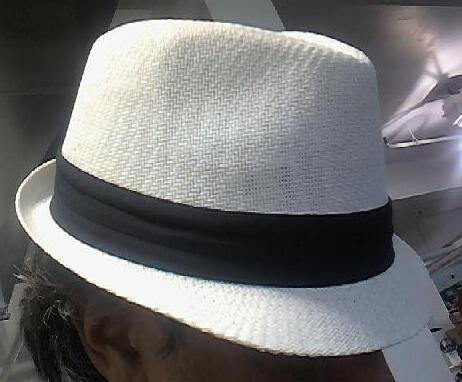 White Straw Fedora Unisex One Size Hat