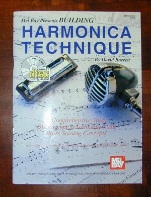 BUILDING HARMONICA TECHNIQUE MUSIC BOOK & CD
