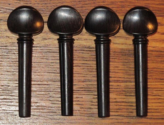 Ebony Violin Pegs (set of 4)