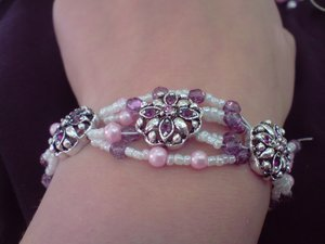 Antique Silver Flower Bracelet