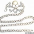 Rhinstone Skull Chain