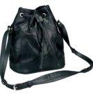 Black Italian Stone Design Genuine Leather Shoulder Bag