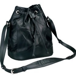 Black Italian Stone Design Genuine Leather Shoulder Bag