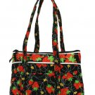 "STRAWBERRY QUILTED HANDBAG (14.5""X9.5"")"