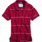 AMERICAN EAGLE men's AE pique eagle polo - magenta / XXL