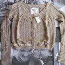 "new ABERCROMBIE & FITCH ""Bryn"" cardigan sweater - Brown / Medium 8-10"
