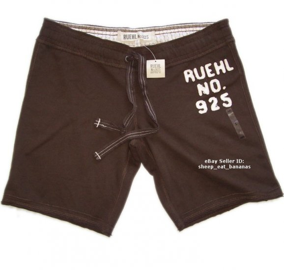 RUEHL/Abercrombie womens bermuda lounge sweat shorts - brown / Large L