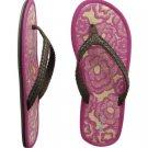 AEROPOSTALE womens Tatami Beach Flip-Flop Sandals - Pink / 6