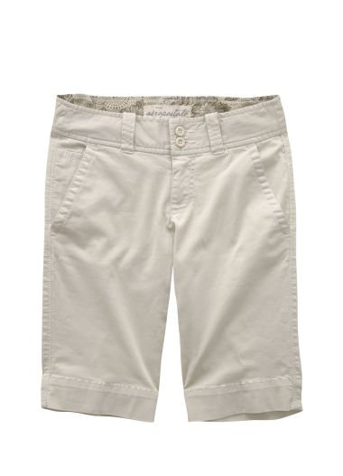 AEROPOSTALE womens Solid Bermuda Short - Light Khaki - 11/12