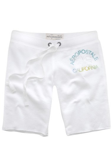 AEROPOSTALE womens California Bermuda fleece lounge shorts - White / Extra Small XS