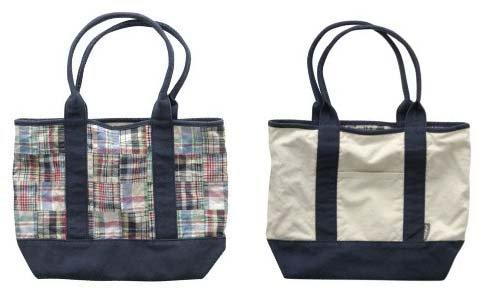 AEROPOSTALE womens Aero plaid patchwork madras reversible tote bag