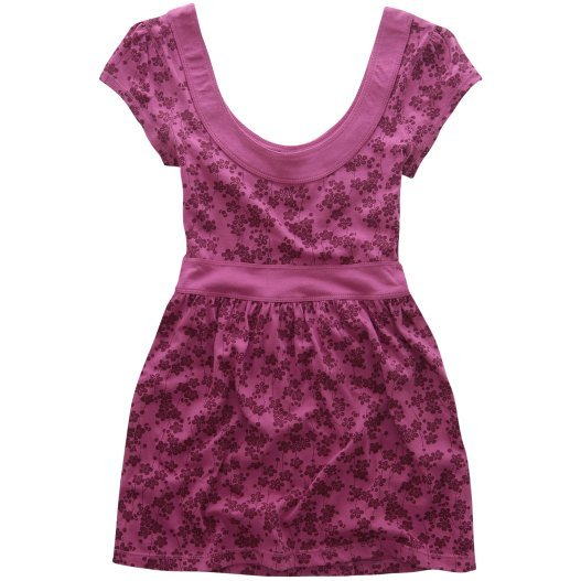 AEROPOSTALE womens Print Back Tie Babydoll knit top shirt - Pink / Small S
