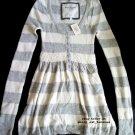 "ABERCROMBIE & FITCH womens ""Joanna"" angora cable knit babydoll sweater jumper - Gray / Medium M"