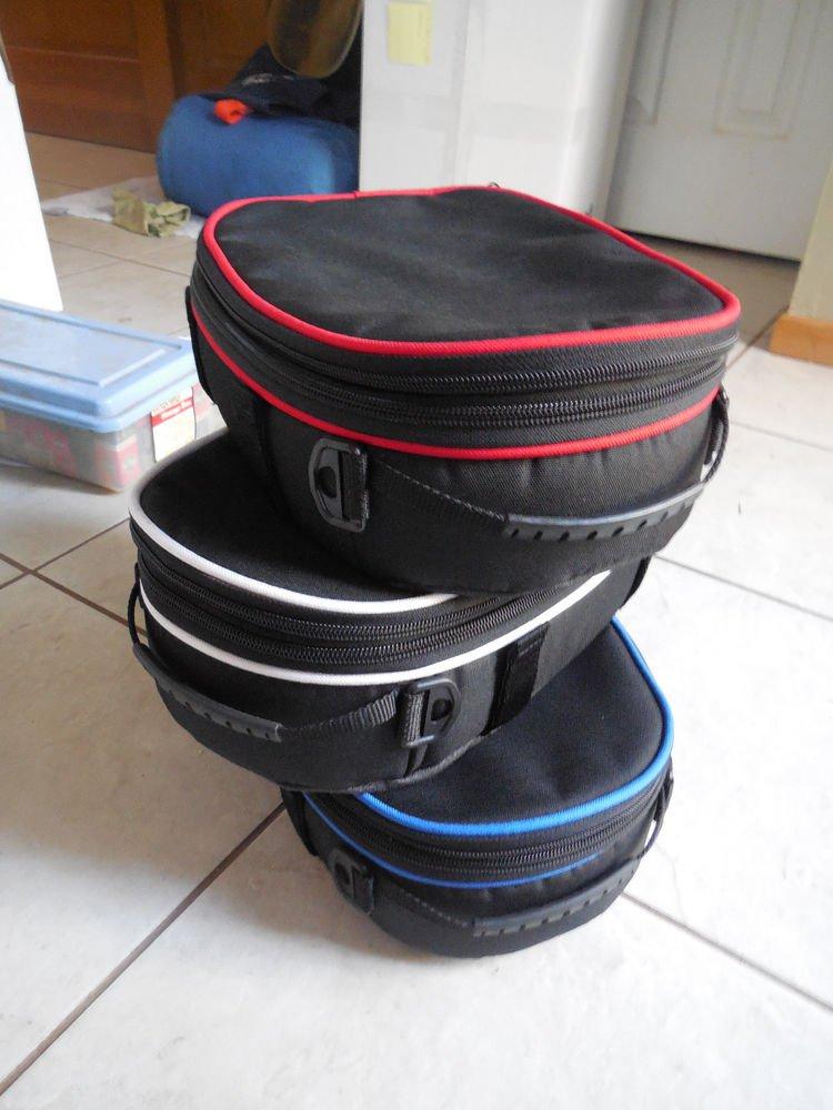 THREE RKA Motorcycle Tail Bag Luggage