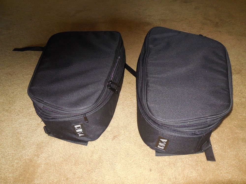 RKA Expandable Universal Fit Motorcycle Saddlebags Luggage Soft Bags