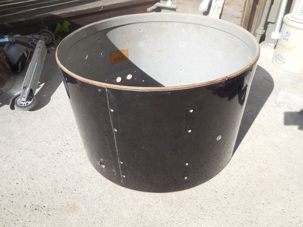 Vintage Rogers Holiday Black 22 X 14 Bass Drum Shell