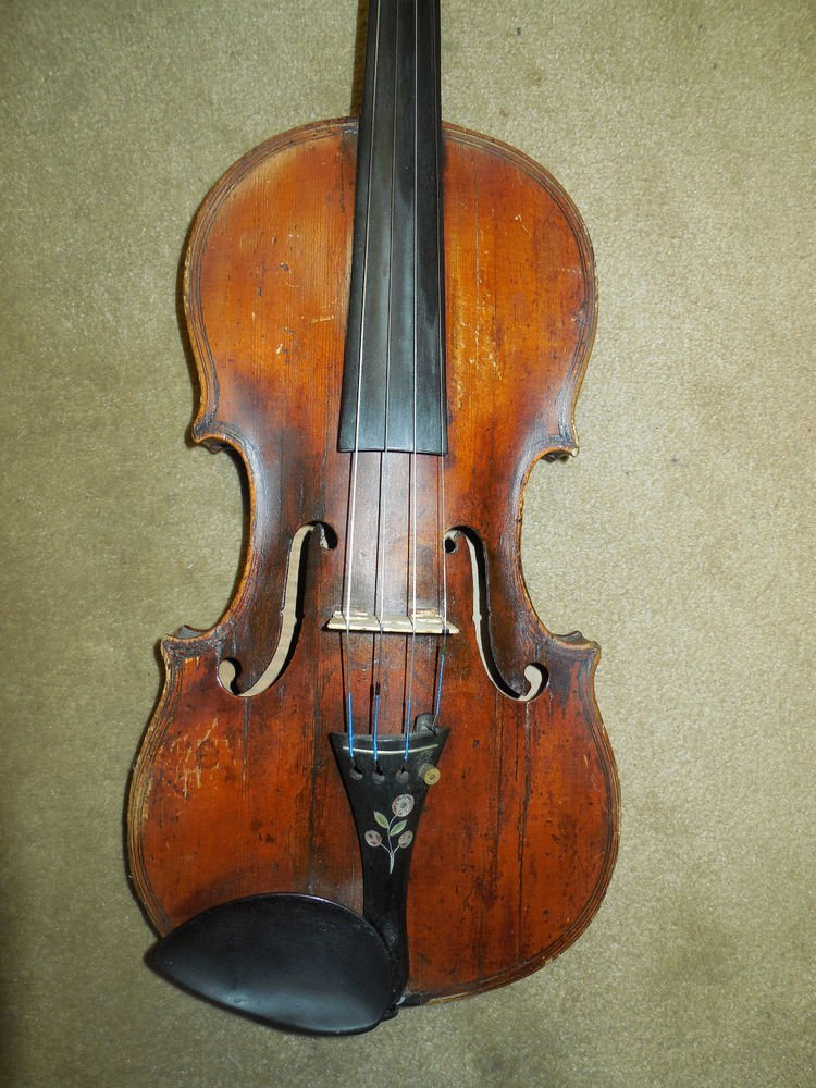Antique Old Violin Maggini Style Grafted Neck 4/4 V.S.F. V.S.P. Branded